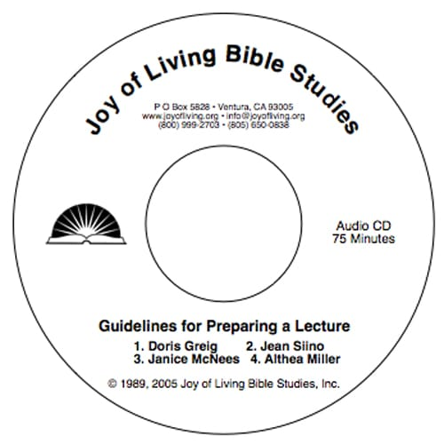 Guidelines for Preparing a Lecture (Audio)